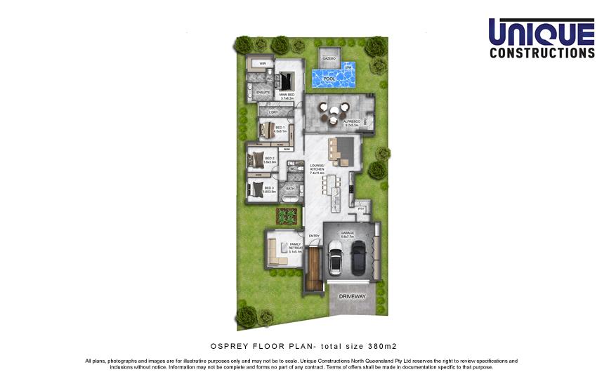 Osprey floorplan - Cairns display home