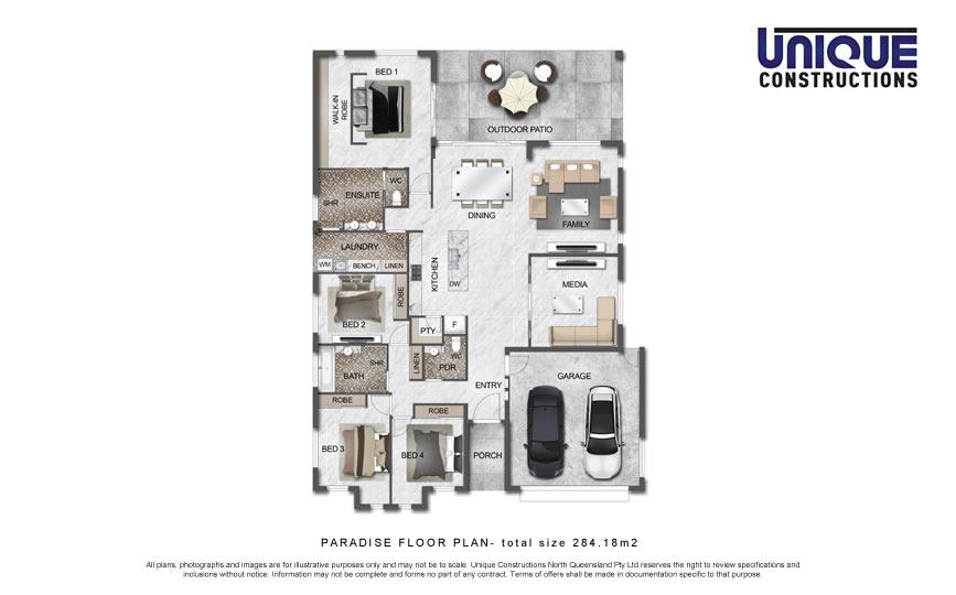 Paradise floorplan - Cairns new home builder